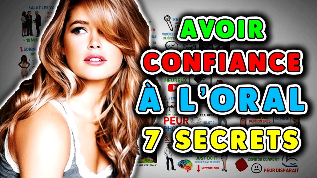 Les 7 secrets pour avoir confiance à l'oral